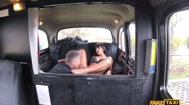 FakeHub - Faketaxi – Saucy Hot Brunette Loves Czech Cock with Tera Joy