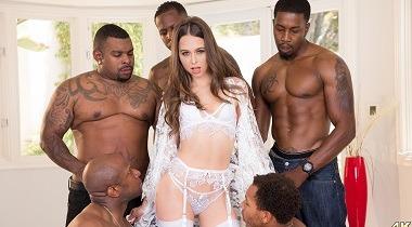 Julesjordan - Riley Reid Interracial Gangbang! No Holes Barred! Where Will All Those Big Black Cocks Go 380x210