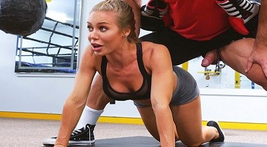 Bangbros Video Creampie During A Hard Work Out by Nicole Aniston 380x210