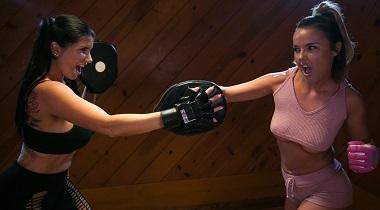 Girlsway HD - Lesbian Workout Stories Going Hard with Dillion Harper & Romi Rain 380x210
