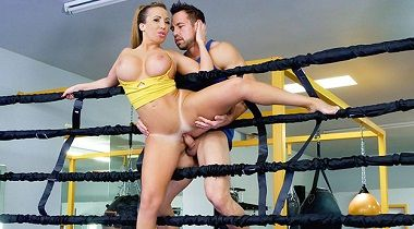 Teamskeet - Busty Babe Goes Boxing by Ricelle Ryan - TheRealWorkout 380x210