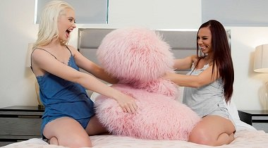 Brazzers - First Time With My BFF Aidra Fox & Chloe Cherry - Hot And Mean 380x210