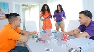 Daughterswap - Demi Sutra & Julz Gotti in Strip Poker And Stroke Her 380x210